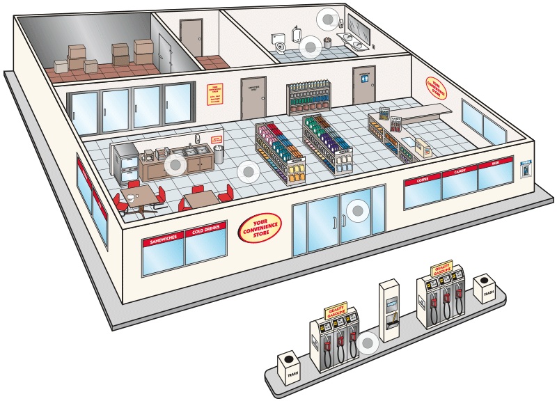 Convenience Store Map