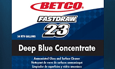 Betco Fastdraw 23 Label Deep Blue Glass Cleaner