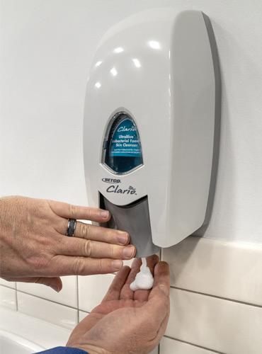 clario-dispenser-in-action
