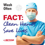 Betco Wash often poster acute care