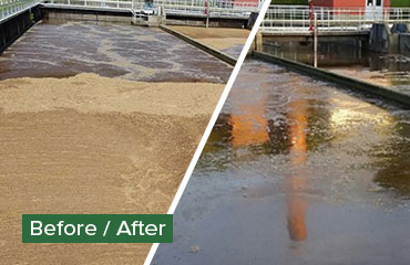Before After Wastewater Treatment Plant