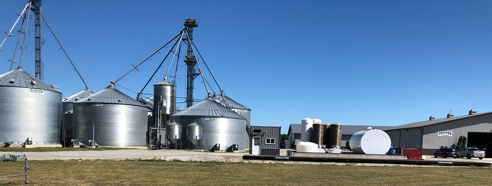 Grain bins at Drewes farms