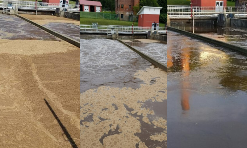 Before and After pics of municipal wastewater treatment plant